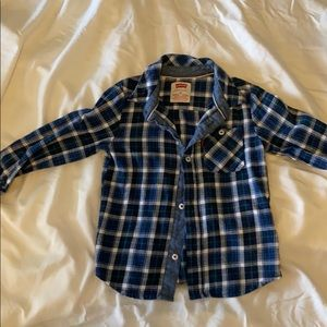 Levi's toddler flannel plaid button up shirt